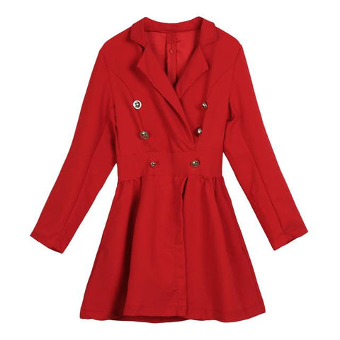 Lena Long Sleeve V-neck Parka Coat