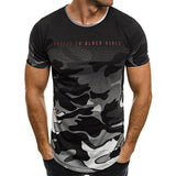 Black Vibes Camouflage T Shirt