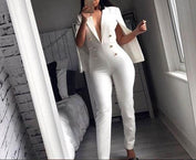 Monique Back Cloak Blazers Jumpsuit