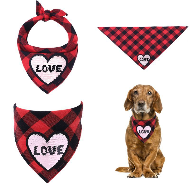 Valentine's Day Pet Dog Bandana