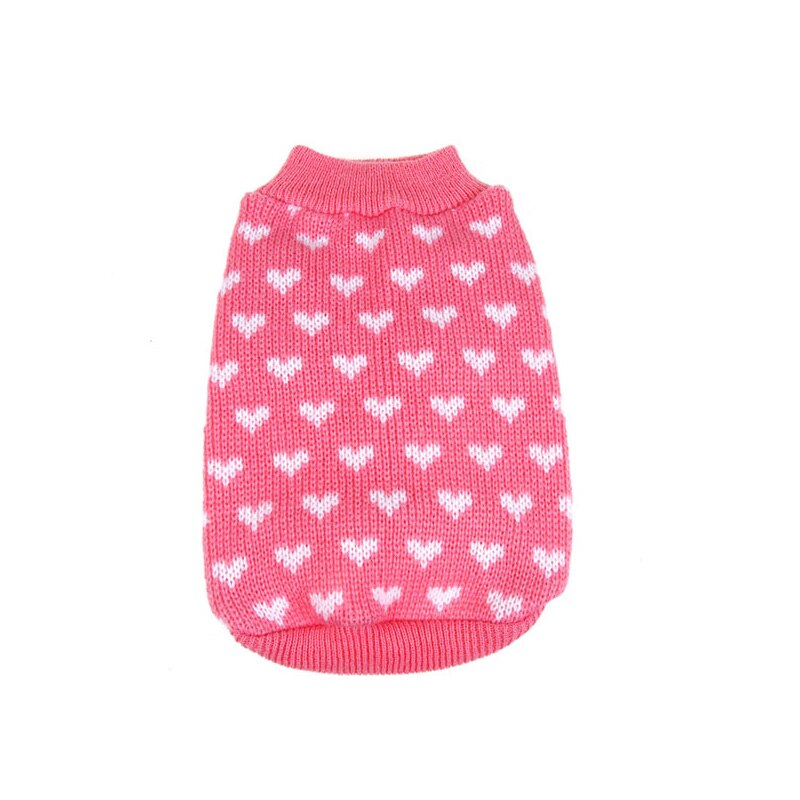 Dog Heart Sweater Pet Clothes Warm Knit