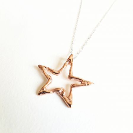 Rose gold Silver Star Necklace