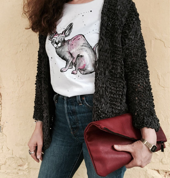 Hande Drawing T-shirt /Cat
