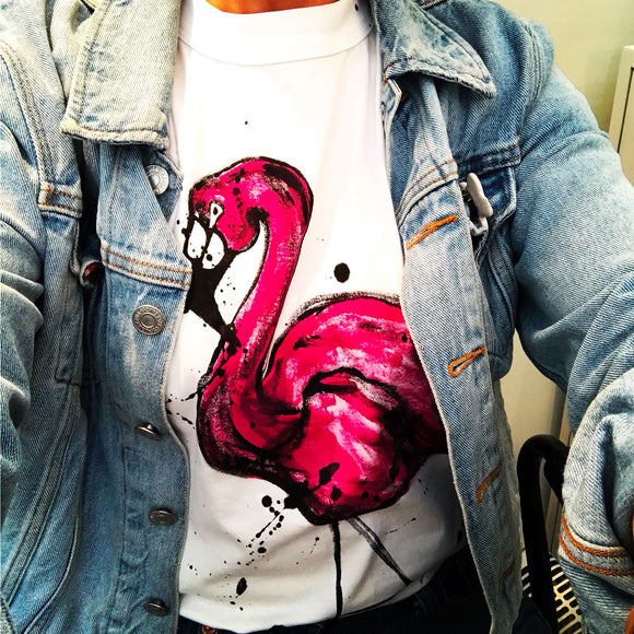 Hand Drawn Flamingo T-shirt