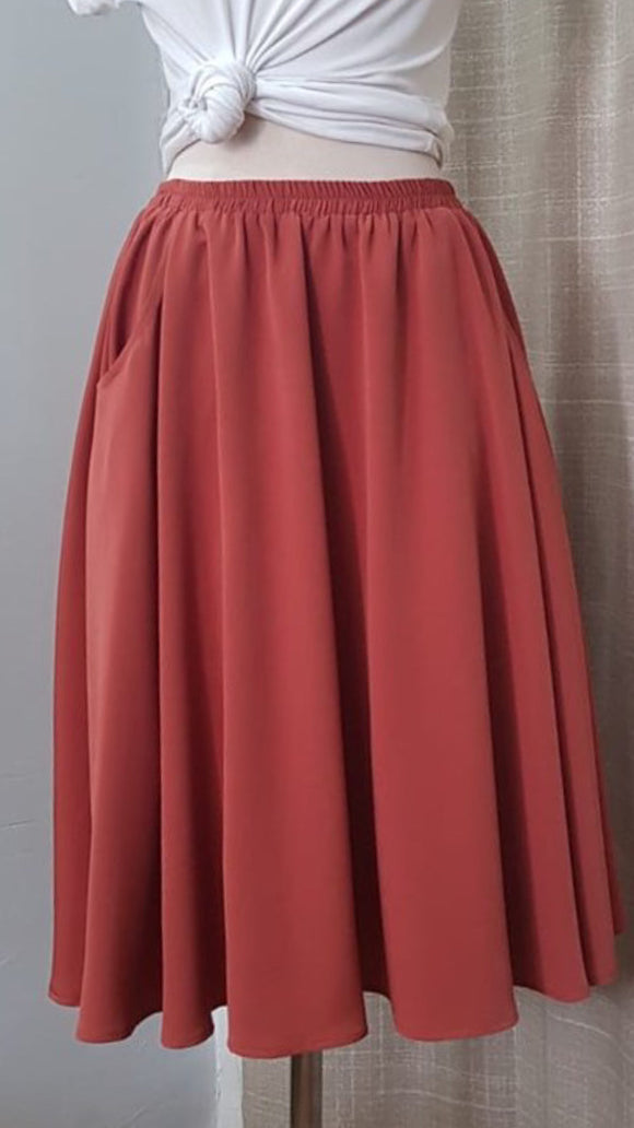 Solid color skirt