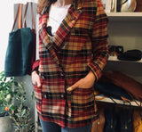 Burgundy Plaid Jacket