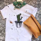 Hande Drawing T-shirt /Cactus