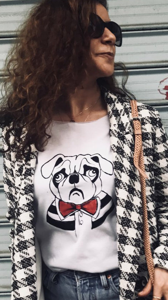 Hand Drawing T-shirt /Pug