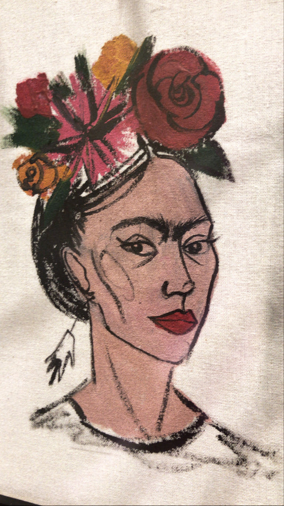 Hand Drawn Frida Kahlo Painting