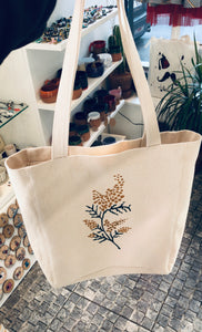Hand drawing mimosa bag