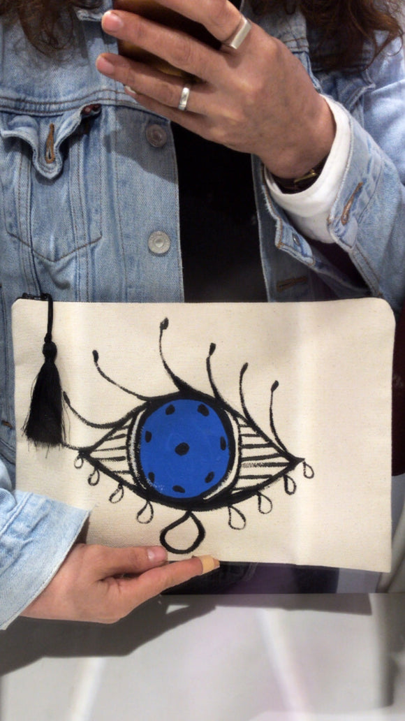 Hand drawing Clutch /El çizimi Çanta
