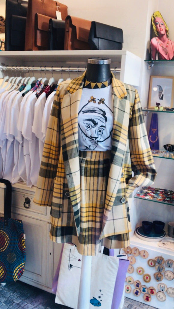 Mustard color plaid jacket