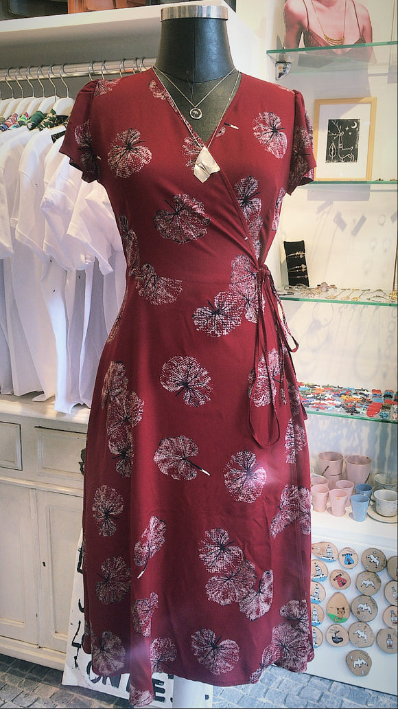 Adjustable Burgundy Dress