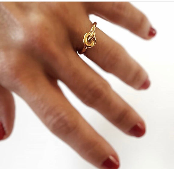 Bronze knot ring