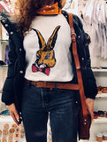 Hand drawing rabbit t-shirt