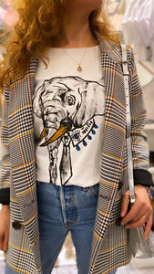 Hand drawing elephant t-shirt