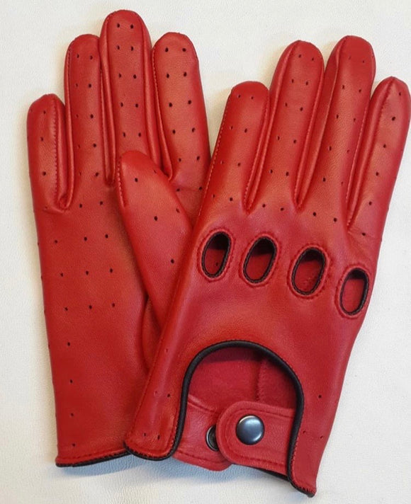 Leather Glove Red/