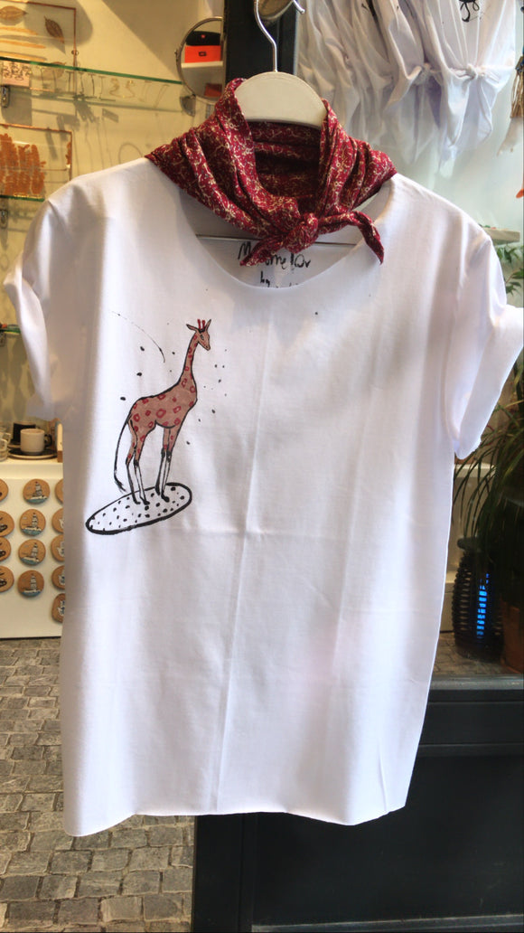 Hand drawing Giraffe T-shirt