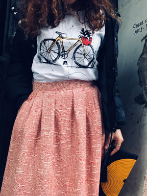 Hand drawing Bicycle T-shirt