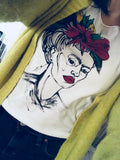 Hand-drawn Frida Kahlo T-Shirt