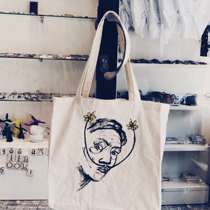 Hand Drawing Salvador Dalí Cloth bag/ Salvador Dali