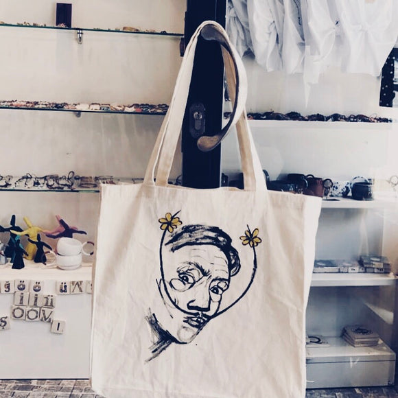 Hand Drawing Salvador Dalí Cloth bag