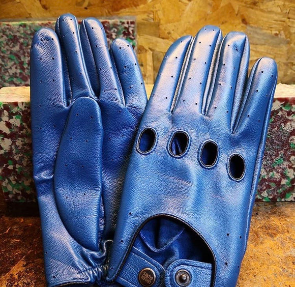Leather Glove Blue