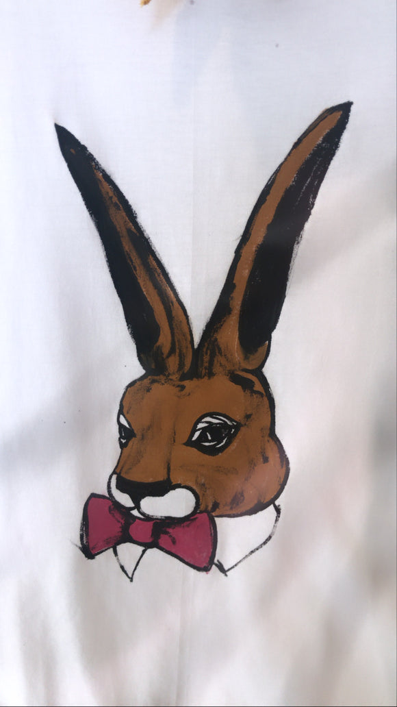 El Çizimi Tavşan Tişört /Hand drawing rabbit t-shirt