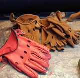 Leather Glove Red