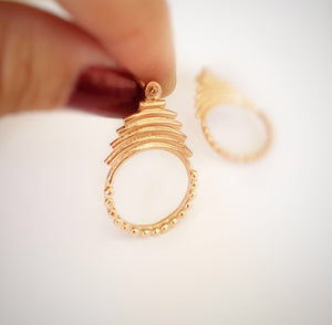 Drop silver gold-plated earrings