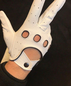 Leather Glove White