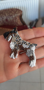 Handmade dog brooch