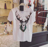 Hand drawing deer t-shirt