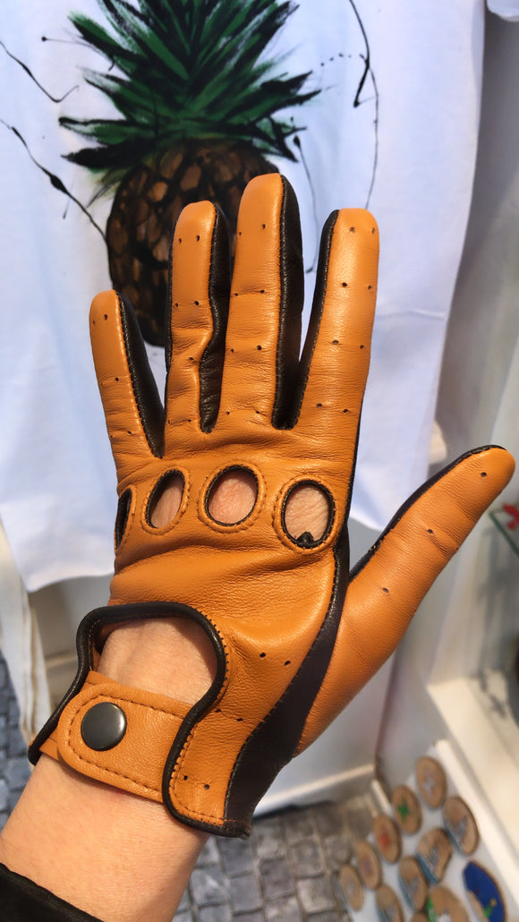 Leather Glove Cognac / Brown