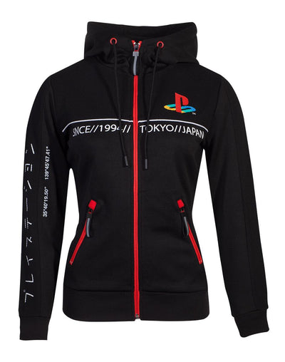 PLAYSTATION OFFICIAL LICENSED TECH19 LADY-FIT ZIP-UP HOODIE