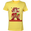 NINTENDO Super Mario Bros. Giant Mario 30th Anniversary T-Shirt, Male, Extra Small, Yellow (TS500207NTN-XS)