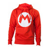 NINTENDO Super Mario Bros. Big Mario Logo Hoodie, Unisex, Small, Red (HD313152NTN-S)