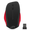 SPEEDLINK Ledgy Wireless Three Button Ergonomic PC Mouse with Nano Receiver, Black/Red (SL-630000-BKRD)
