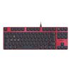 SPEEDLINK Ultor Illuminated Frameless Mechanical Gaming Keyboard, UK Layout, Red/Black (SL-670008-BKRD-UK)