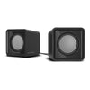 SPEEDLINK Twoxo Stereo Compact Cube USB Powered Speakers, Black (SL-810004-BK)