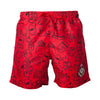 NINTENDO Super Mario Bros. Mario Face & All-over Characters Print Swimming Shorts, Male, Small, Red (SH240411NTN-S)