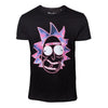 RICK AND MORTY Neon Rick Face T-Shirt, Male, Small, Black (TS583098RMT-S)