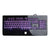 WASDKEYS K300 Gaming Keyboard with Virtual Mechanical Keys and Backlit Illumination, UK Layout, Piano Black (K300-UK)