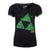 NINTENDO Legend of Zelda Triforce Splatter Sublimation T-Shirt, Female, Small, Black (TS782480ZEL-S)