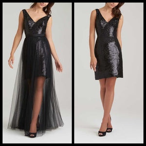 Sequins With Detachable Net Skirt