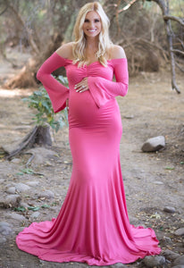 Bell Sleeve Baby Shower Gown