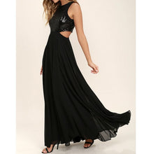 Sequins Cut Out Maxi Dress