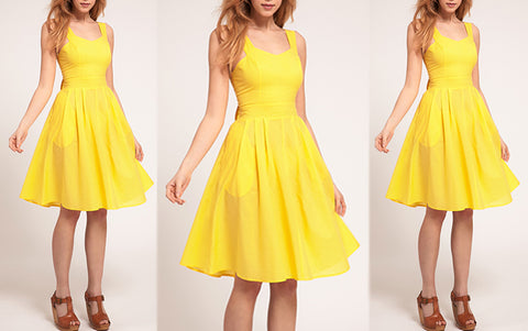 Yellow Midi Sunshine Dress