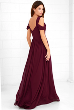 Make Me Move Burgundy Maxi Dress
