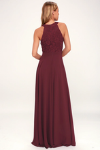 Picture Perfect Burgundy Lace Maxi Dress